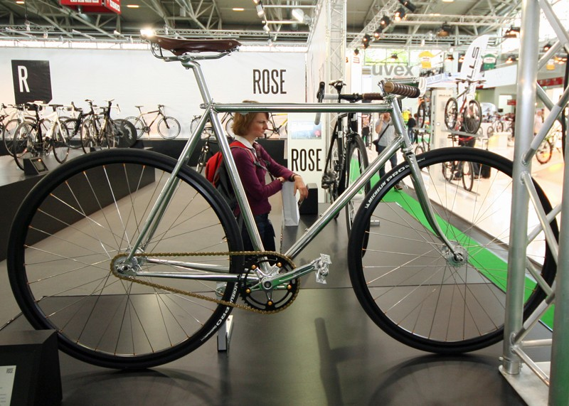 Metallic silver and chromed lugs make the EdelRose a real looker