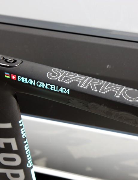 Fabian Cancellara (Leopard-Trek) now gets an extra icon next to his Swiss flag