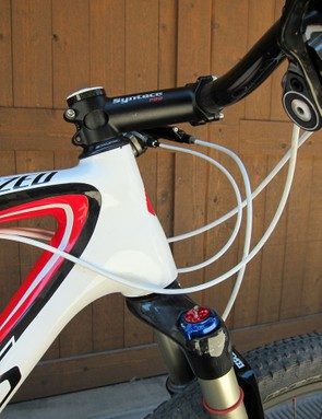 Specialized include a tapered head tube on the S-Works Stumpjumper 29er