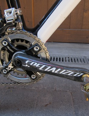 Specialized's own oversized carbon cranks are lighter than standard high-end options and noticeably rigid, too