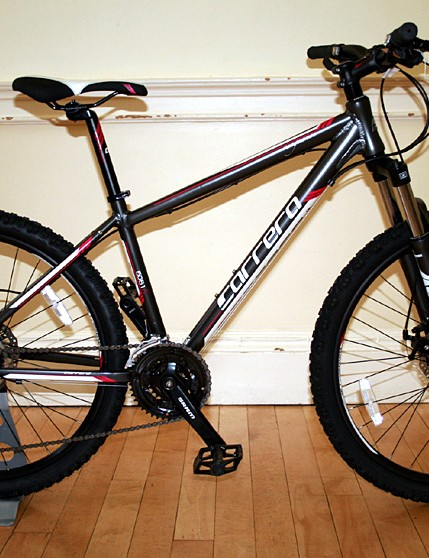 The Carrera Vengeance, the most popular mountain bike in the range at £349. This is the women's model