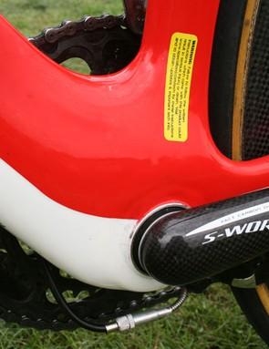 A massive bottom bracket aids stiffness in this key area