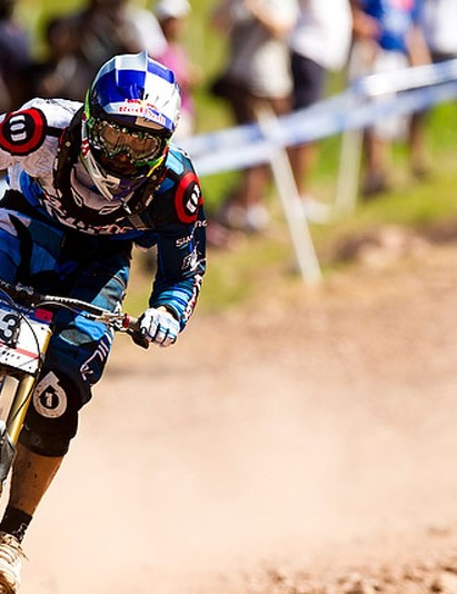 Rachel during the 5th UCI World Cup DH, Windham, NY, USA.