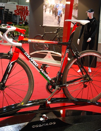 The Colnago CF8 features Di2 with the battery pack located in the seat post