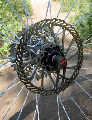DT includes their Center Lock rotor adaptors with their Tricon wheels