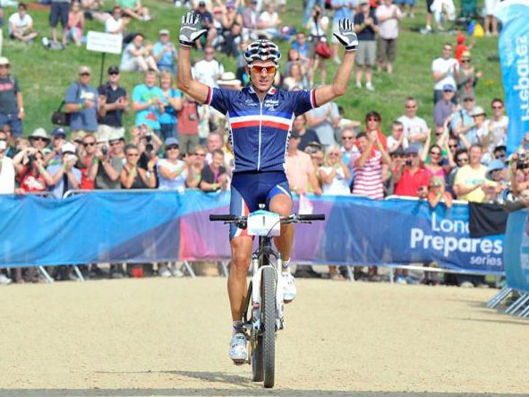 Reigning Olympic Champion Julien Absalon (France) wins the Olympic Test Event
