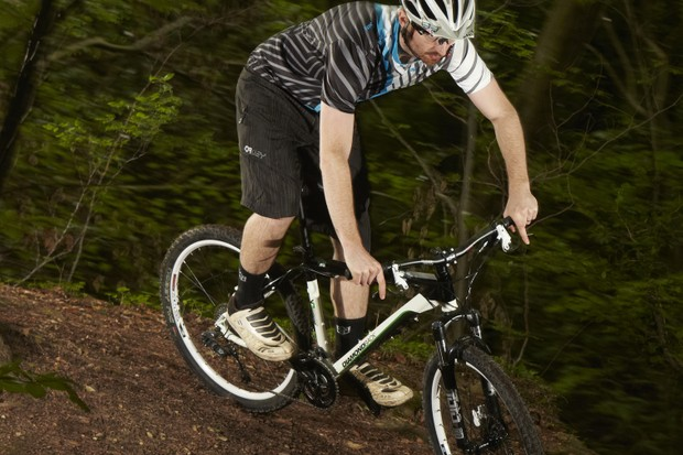 The 130mm travel air-sprung fork works well for  the money
