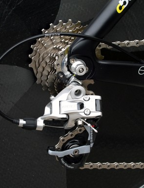 A SRAM Red 11-25t cassette gives you a good range of gears