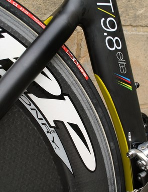 The rear triangle - smooth and functional, with space for the air coming off the rear wheel to go somewhere