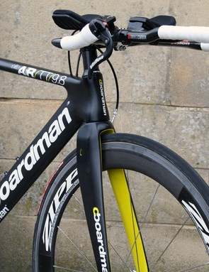 Notice the two sets of bottle cage bolts? We like