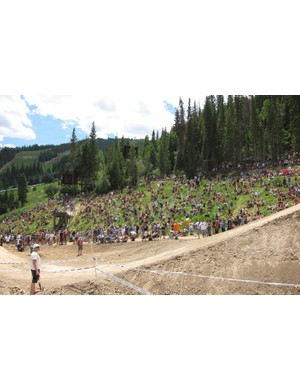 Crowds for the slopestyle semi-finals