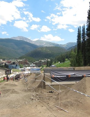 From the top of the slopestyle course