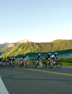 As the Crested Butte Mountain Resort Subaru pace car pulled off from its lead position the racers were free to open it up as they hit Slate River Road and things got underway