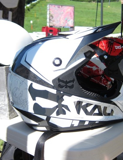 Kali's carbon moto helmet Prana Carbon with the dual density Composite Fusion Plus EPS foam