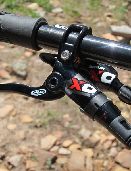 SRAM's recently revamped X0 component group sports a pleasantly cohesive look these days. Shifting was crisp and precise, and the brakes were consistently powerful during our test period