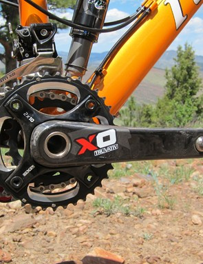 The 36/29T gearing on the Truvativ X0 crank should suit racers just fine but all-day trail riders in more mountainous regions might pine for a lower gear