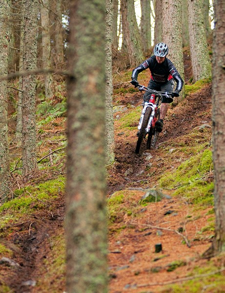 The trails are loose, but grippy at the same time - which is a bit odd
