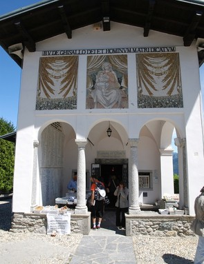 The Madonna del Ghisallo church remains a shrine worthy of the climb up the hill of the same name