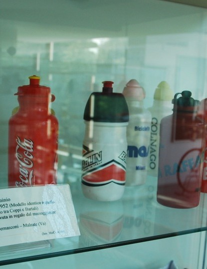 The evolution of water bottles from metal to plastic, as well as some examples from famous races