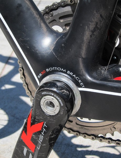 Volagi build their Liscio frame with a true BB30 bottom bracket shell