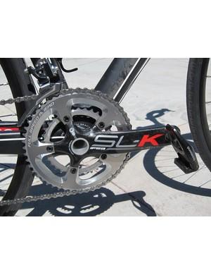 Volagi Liscio Rival buyers can upgrade to the carbon fiber FSA SL-K crank for US$300