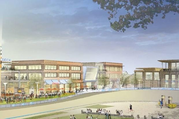 An artist's rendering of the Rock Hill Outdoor Center
