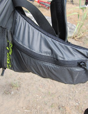 Zippered hip pockets are big enough for multiple gel packets and energy bars or even a medium-sized point-and-shoot camera