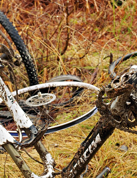 The Strathpuffer course is like a drivetrain graveyard by the end of the race