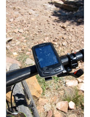 Johnson trains with a Garmin's Edge 800 but races with the smaller Edge 500