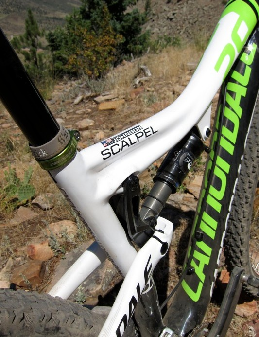 This is Tim Johnson's Scalpel 29er, in case you were wondering