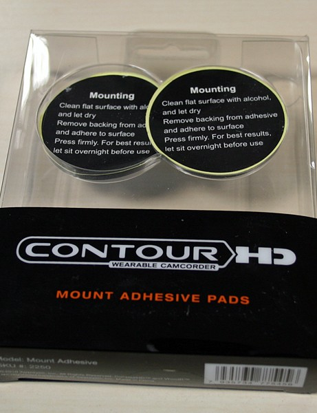Extra adhesive mounting pads are available