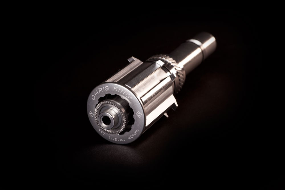 Chris King have finally taken advantage of the slightly smaller 17mm-diameter axle used in their R45 road hubs, adding a Campagnolo-compatible driver that will be available beginning January 2012