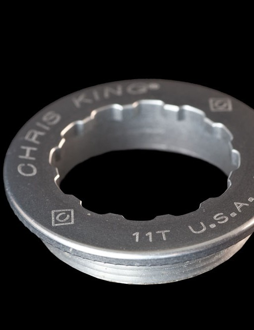 Naturally, Chris King will also offer dedicated machined aluminum lockrings (in both 11T and 12T varieties) to go with their new Campagnolo-compatible R45 hubs