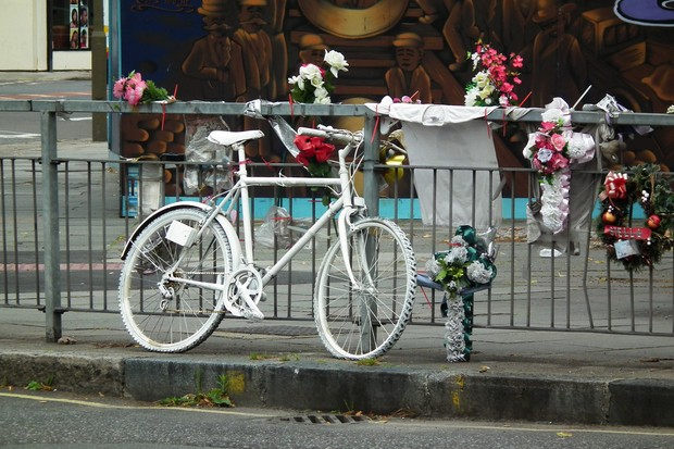 Ghost bikes - marking sites where cyclists have been killed - are becoming more common in the UK as cyclist deaths continue to rise