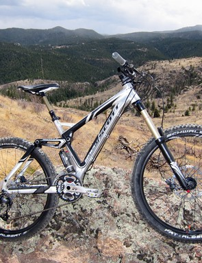 The Scott Genius LT 30 is no lightweight but it's a surprisingly reasonable climber when the rear end is locked out and a heck of a lot of fun once you're heading back downhill
