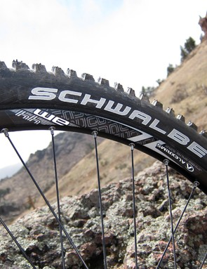 The Alex rims held up well during testing but aren't readily tubeless-compatible
