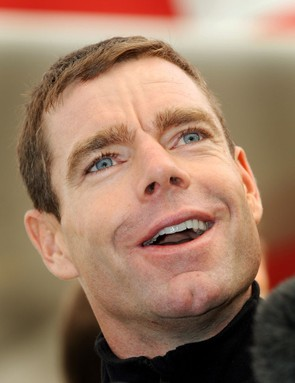 Cadel Evans, still smiling after his Tour de France victory