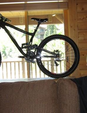 David Turner with his 2011 DHR downhill bike