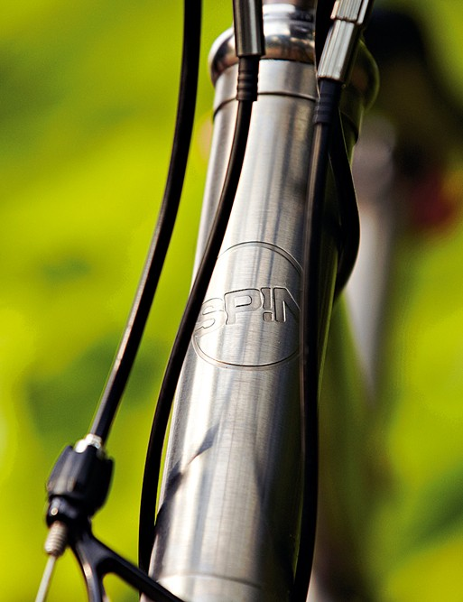 Touches like the machined head badge are indicative of the Spin's high quality