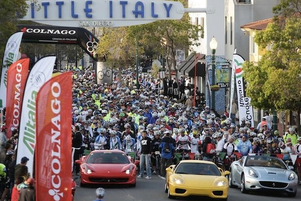 A Ferrari and Maserati escort will lead riders out on Sunday