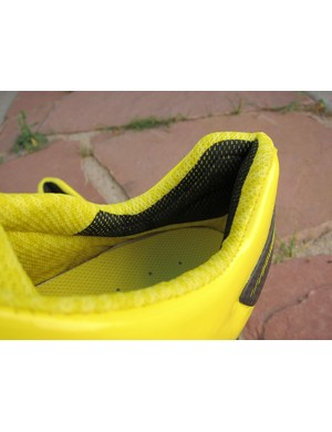 Padding on the inside of the heel cup on Mavic's Zxellium Ultimate looks to have gotten a little more heavily shaped for 2012