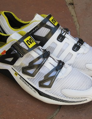 The Mavic Huez is the company's lightest shoe but it also looks superbly ventilated