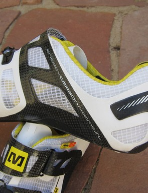 Laminated carbon fiber panels on the Mavic Huez shoe add a bit more support than before