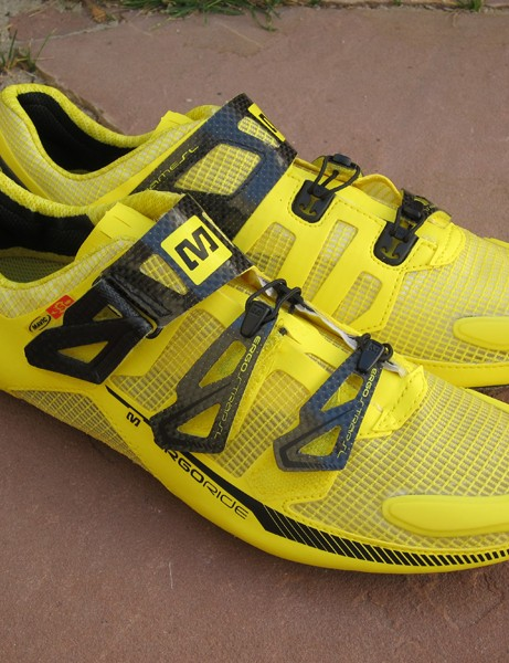 Mavic's top-end shoes are available in trademark yellow but more subdued hues are also available