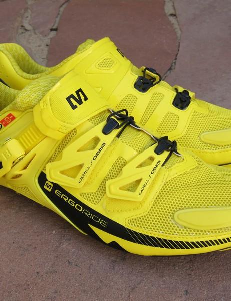 The Mavic Zxellium shoe gets TPU-reinforced upper panels for 2012