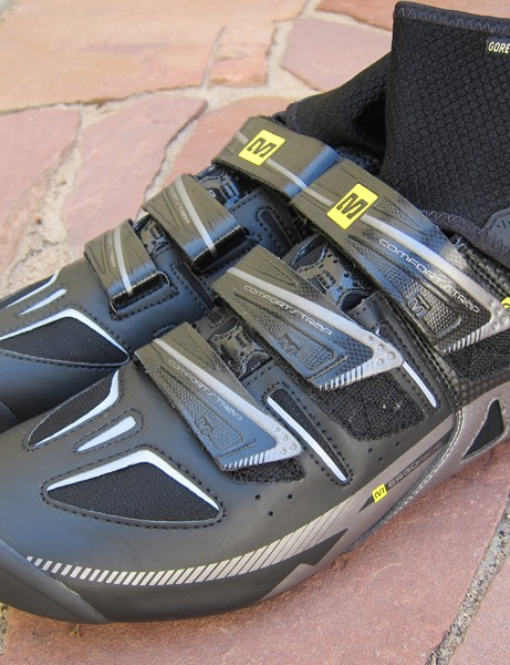 The new Mavic Frost winter road shoe features a Gore-Tex liner and light insulation to help battle the cold