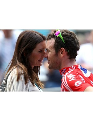 Mark Cavendish with girlfriend Peta Todd