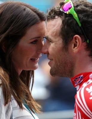 Mark Cavendish with girlfriend Peta Todd