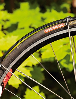 The wheels are light and stiff, the mudguards cool looking but not the best protecting