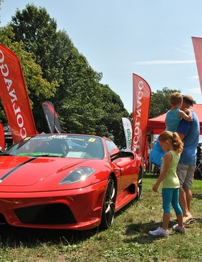 Algar's Ferrari's on display at the Gran Fondo USA's expo